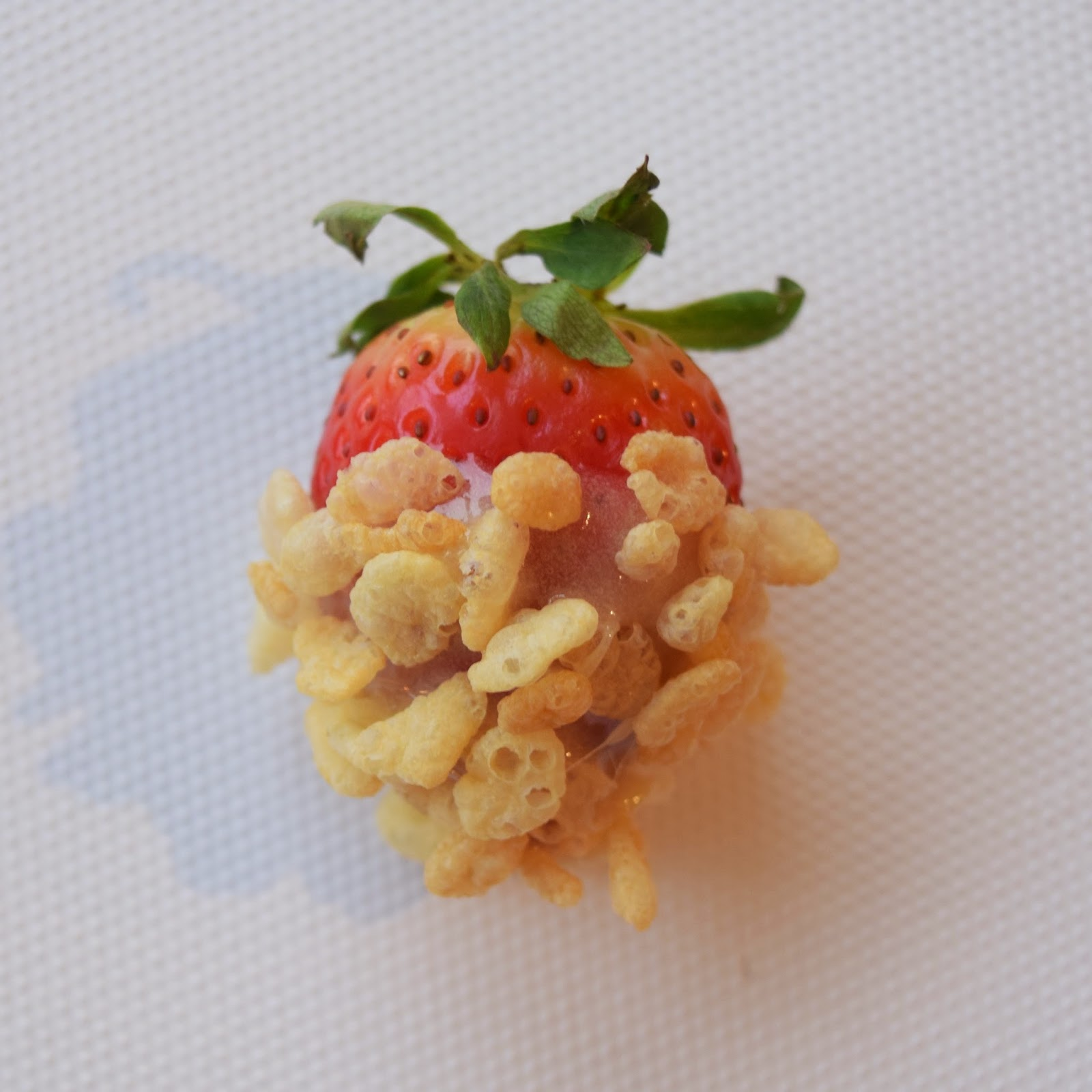 Rice Krispie Covered Strawberries