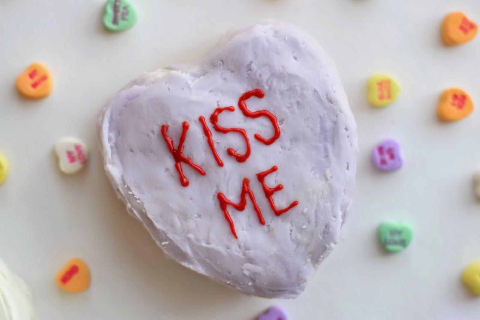 Conversation Heart Cakes