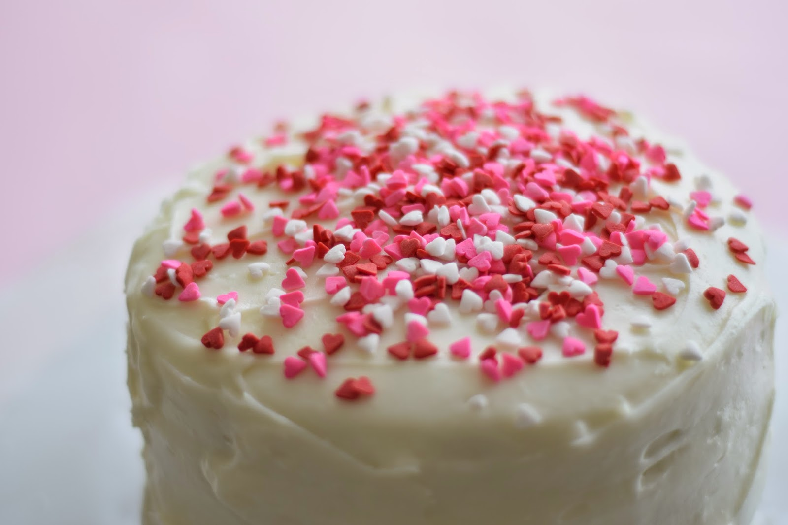 Ombr cake recipe valentine s day homemade for Valentine cake recipes with pictures