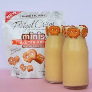 Salted Caramel White Chocolate Pretzel Crisps Milkshake Recipe