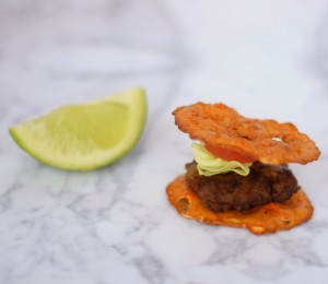 Pretzel Crisps Sriracha & Lime Burger Sliders Recipe