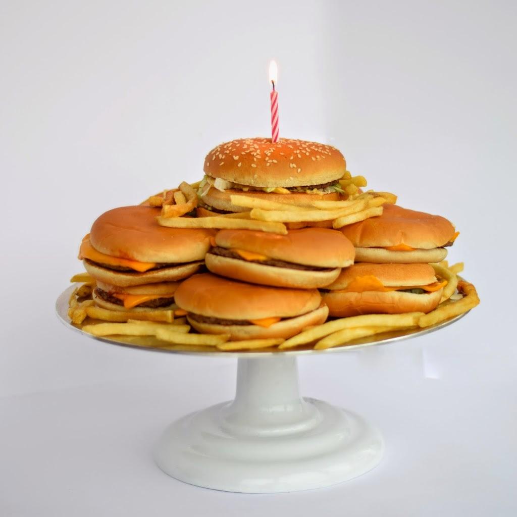 Торт из гамбургеров своими руками 55