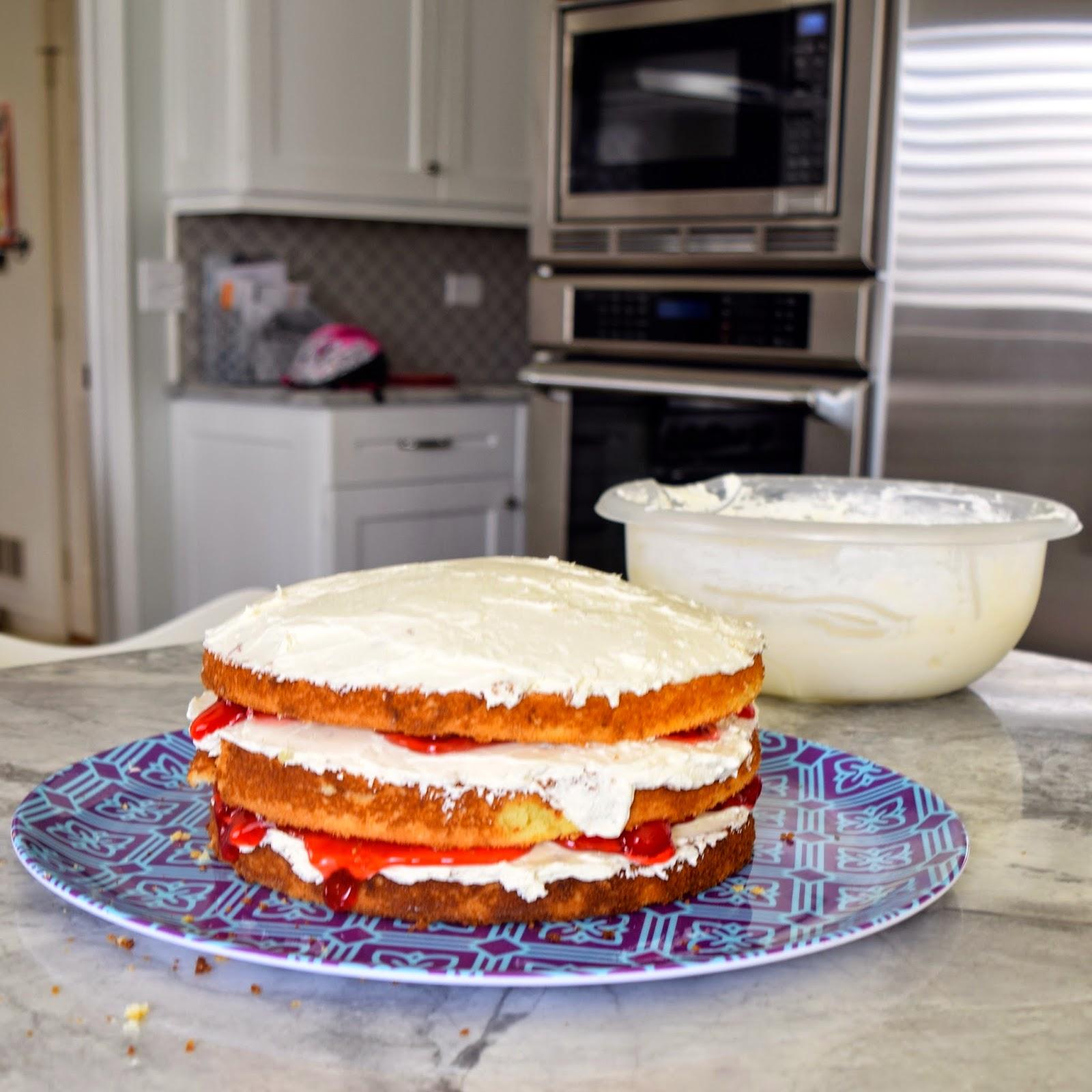 cherry layered cake recipe
