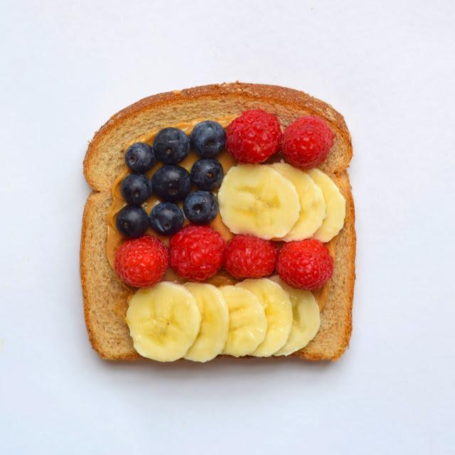 american flag peanut butter bread