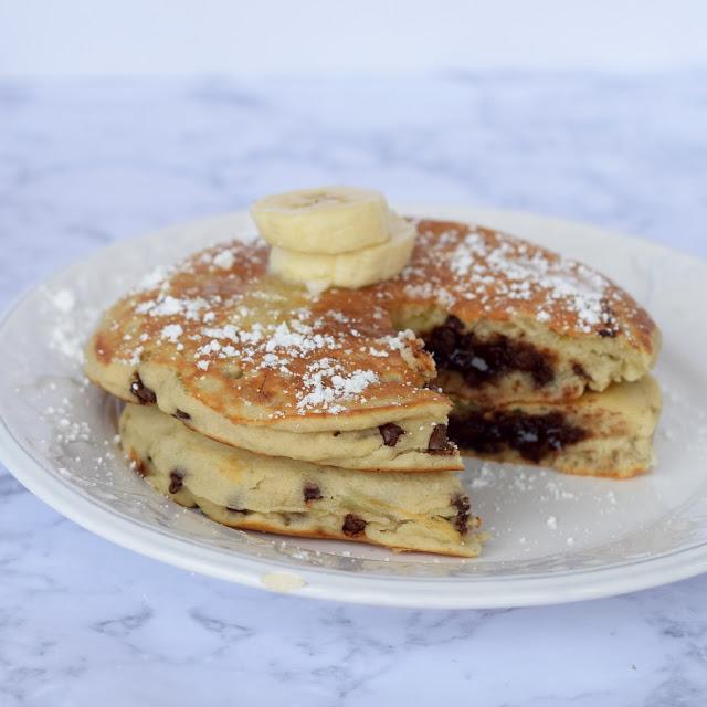 banana chocolate stuffed pancake recipes