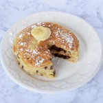 Chocolate Filled Banana Pancakes