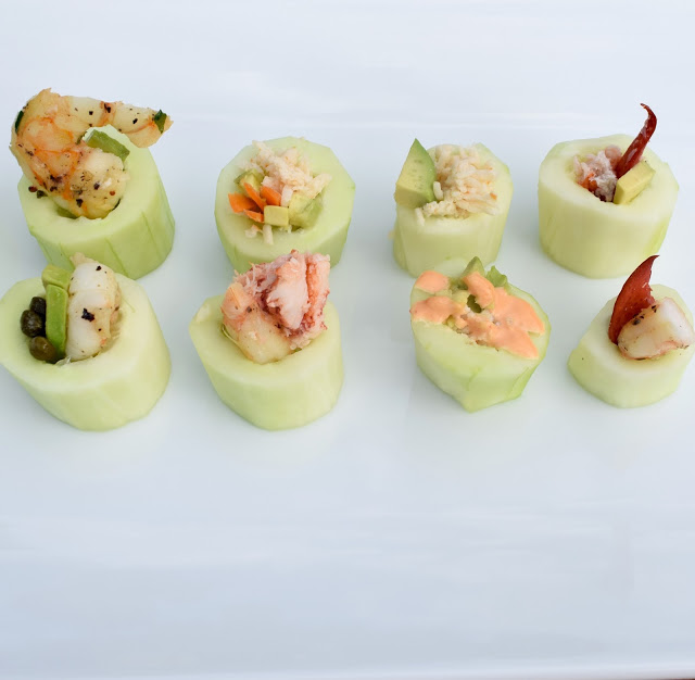 homemade cucumber sushi