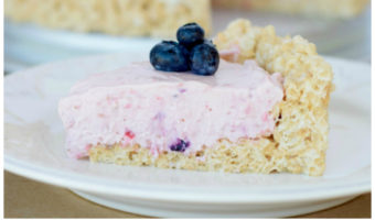 BERRY CHEESECAKE WITH RICE KRISPIE PIE CRUST RECIPE