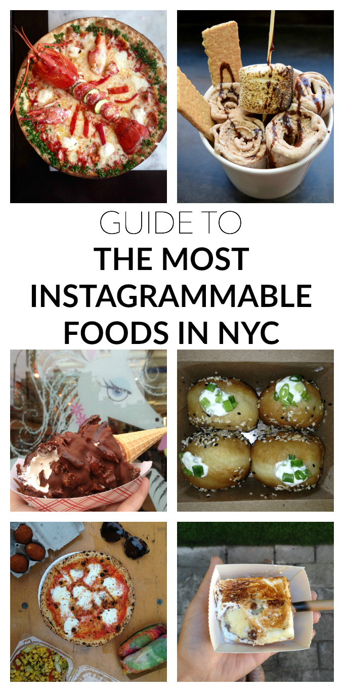GUIDE TO THE MOST INSTAGRAMMABLE FOOD IN NYC