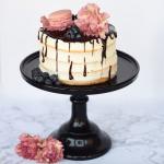 Blueberry Floral Macaron Cake Recipe