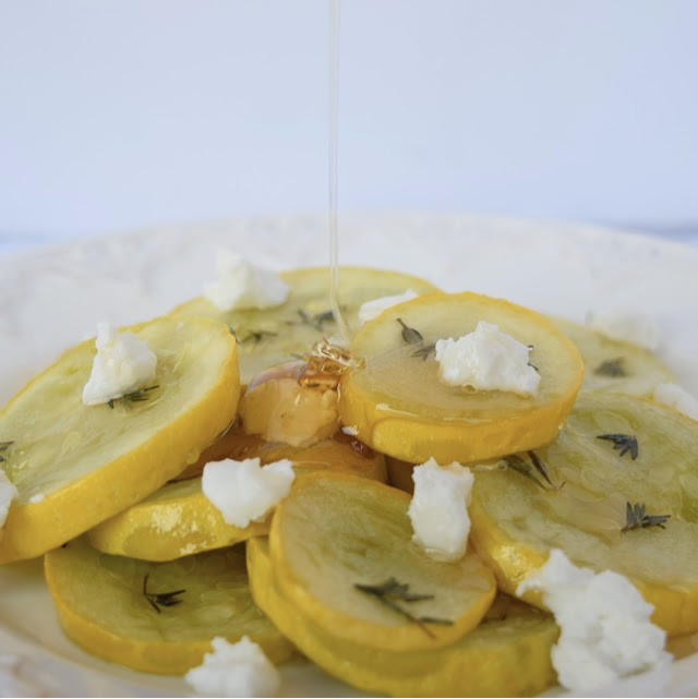 Squash & Goat Cheese Salad