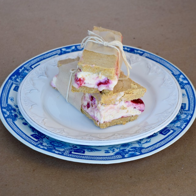 raspberry ice cream recipe pie bar