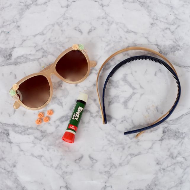 DIY Flower Sunglasses & Headband