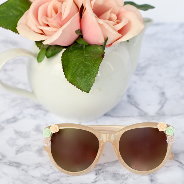 DIY Flower Sunglasses Tutorial