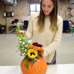 DIY Pumpkin Flower Centerpiece