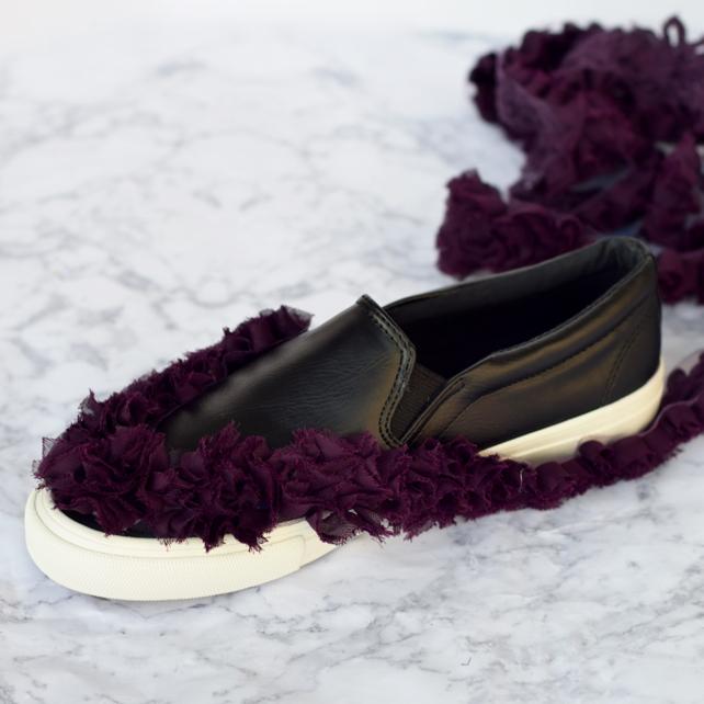 DIY Tory Burch Rosette Sneaker Tutorial