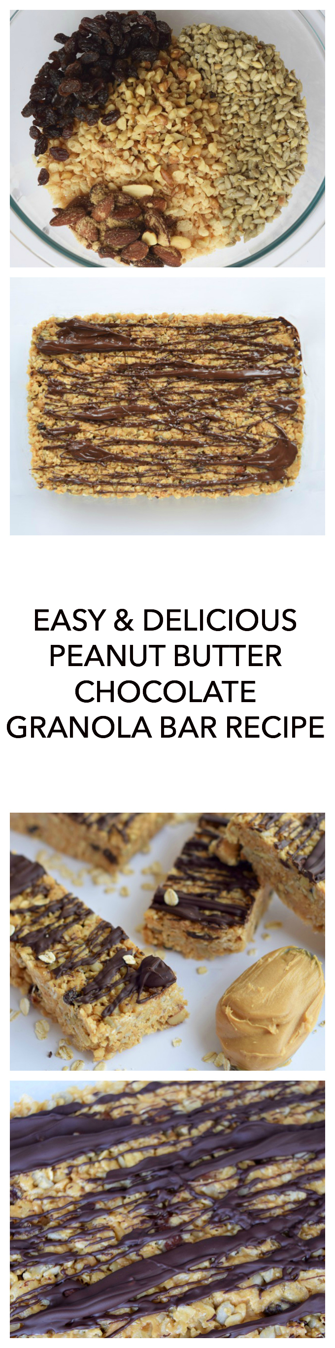 Peanut Butter Chocolate Granola Bars Recipe