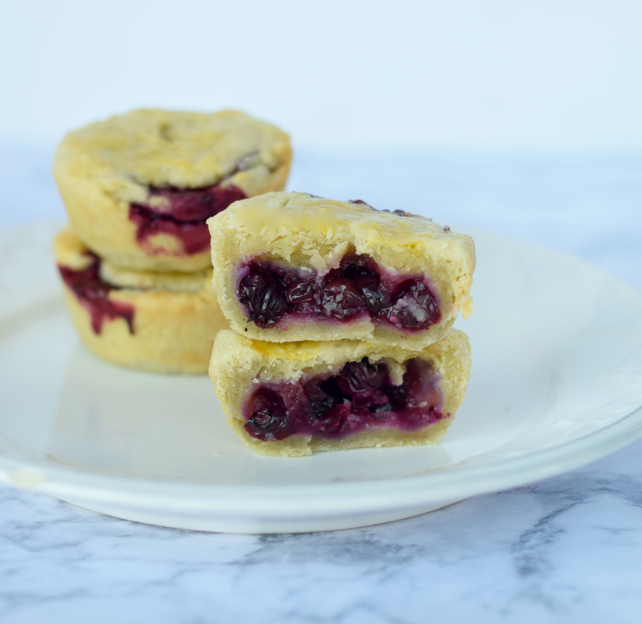 Mini Cranberry Blueberry Pies