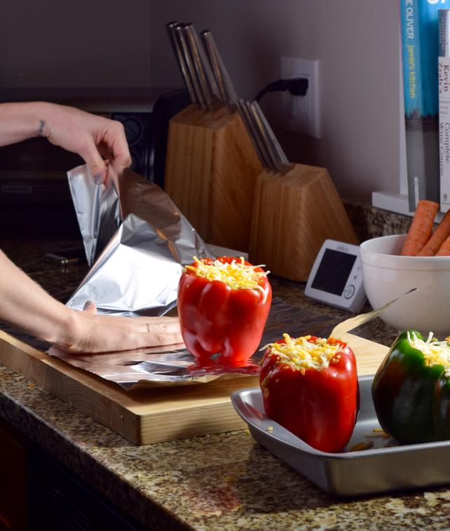 Cheese & Quinoa Stuffed Peppers