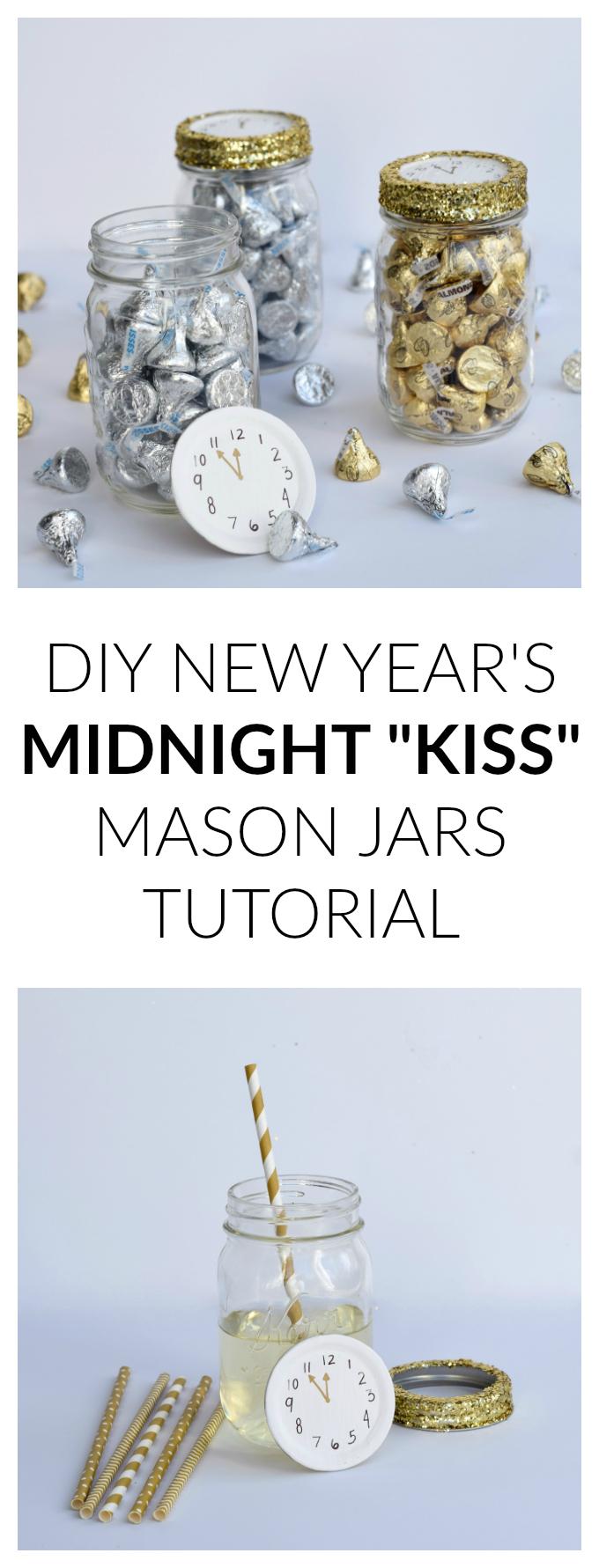 DIY NEW YEAR'S MIDNIGHT MASON JARS TUTORIAL