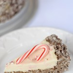 Peppermint Cheesecake with Cocoa Pebbles Pie Crust