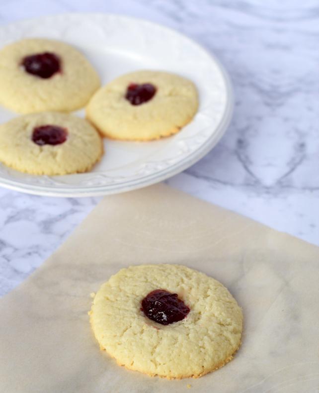 Raspberry Cheesecake Thumbprint Cookies