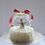 Holiday Snow Globe Cake