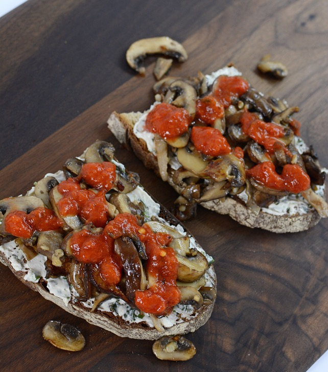 Mushroom Cheese Toast Recipe