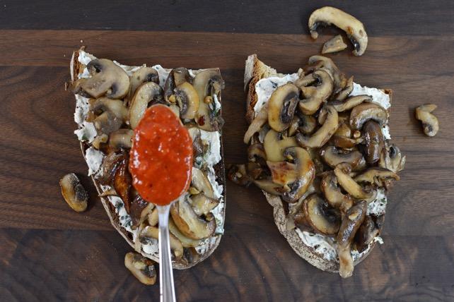 Mushroom & Cheese Toast