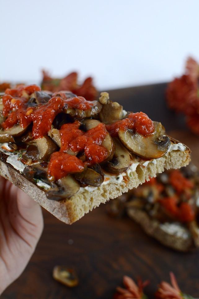 Mushroom Pepper Toast Recipe