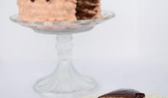 Chocolate Strawberry Brownie Layered Cake Recipe