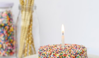 Sprinkle Covered Cake Recipe
