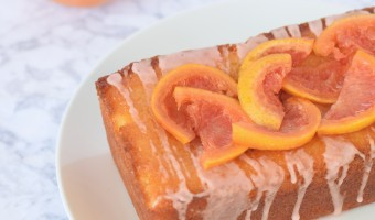 Grapefruit Yogurt Loaf Cake With Candied Grapefruit