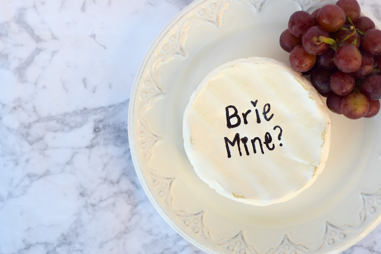 Brie Mine Cheese Valentines Day