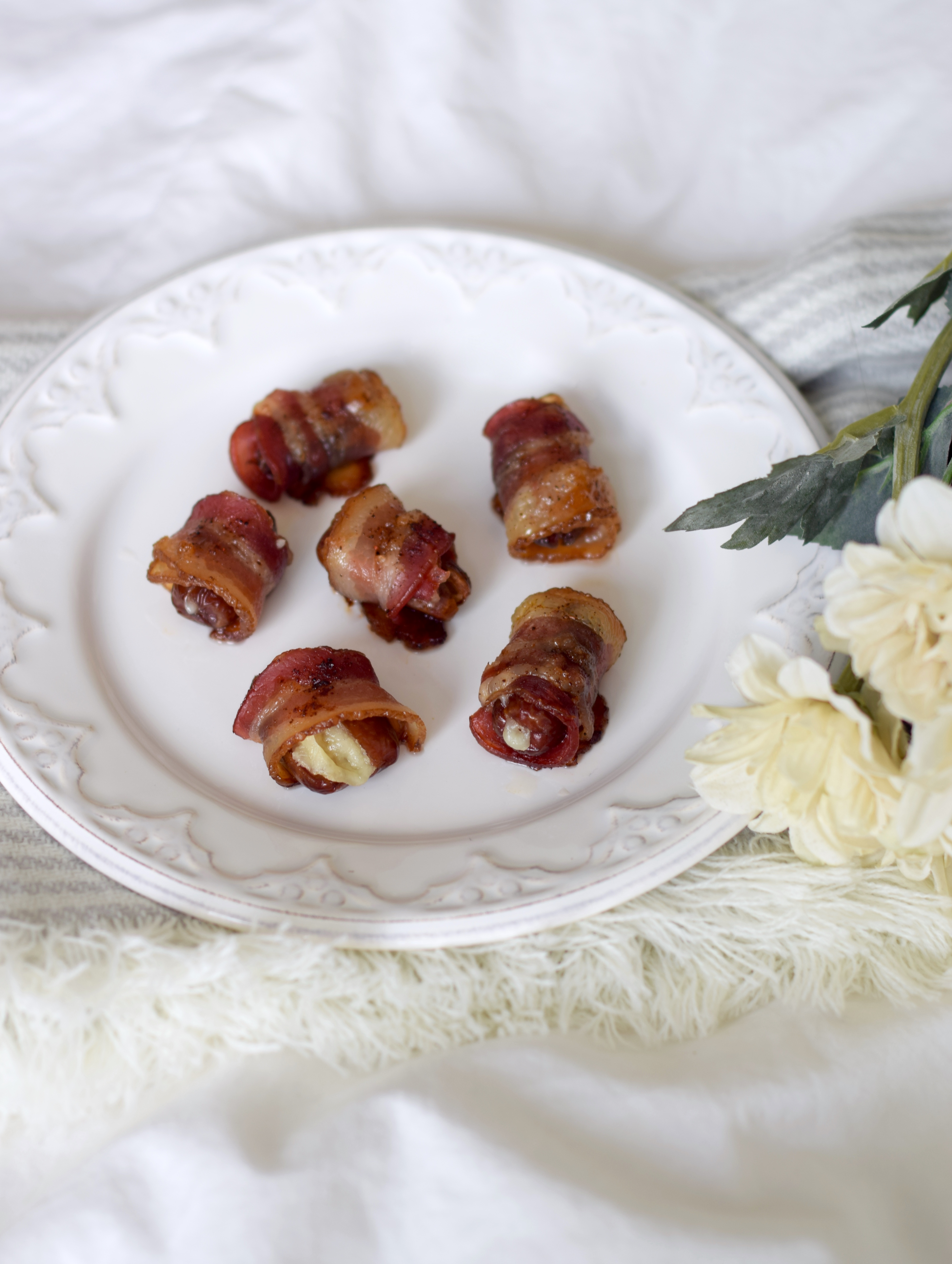 Candied Bacon Wrapped Dates