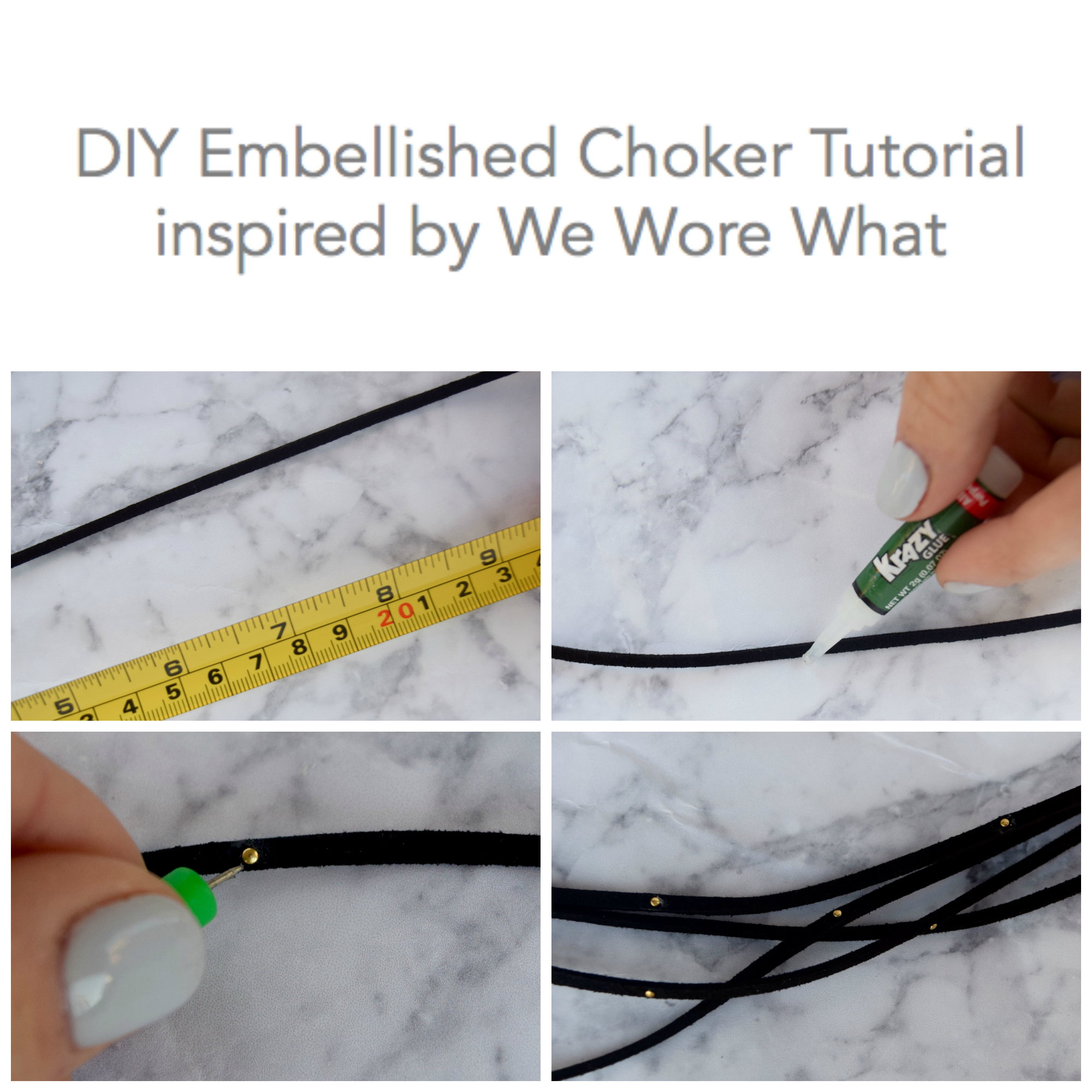 DIY We Wore What Choker Necklace Tutorial