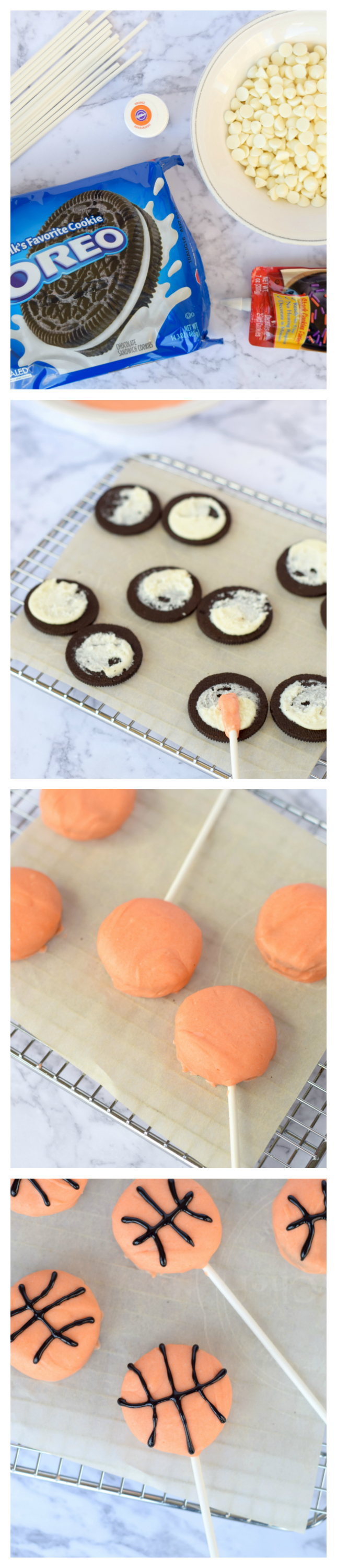 Chocolate Covered OREO Basketball Pops Recipe