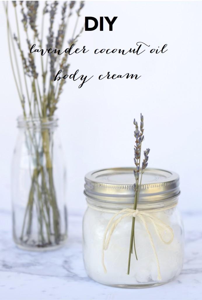 DIY Lavender Coconut Oil Body Cream