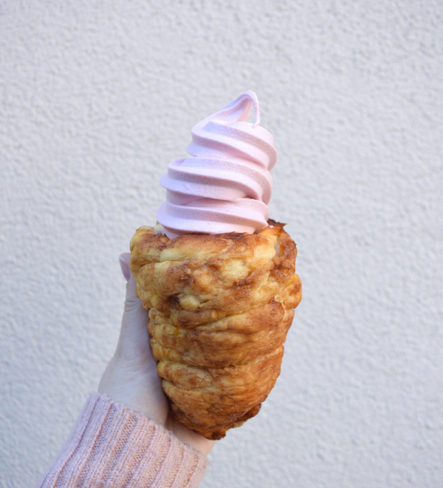 How To Make A Cinnamon Roll Ice Cream Cone