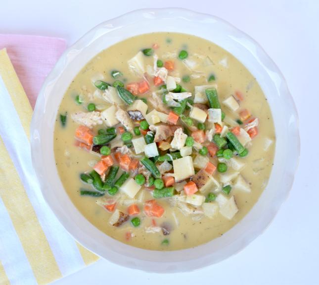 Lauren Conrad's Low Calorie Chicken Pot Pie Recipe