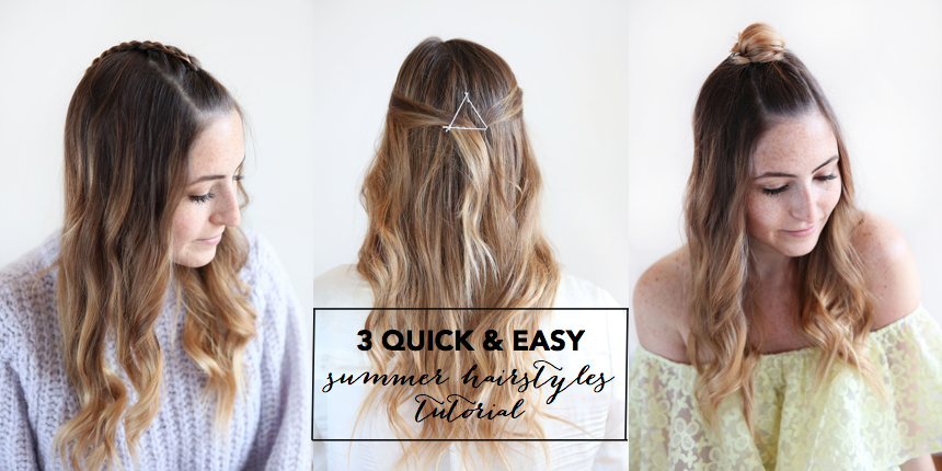 Summer Hairstyle How To : Quick and easy summer hairstyles tutorial