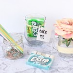 DIY Extra® Gum 35-stick packages Desk Jar Tutorial