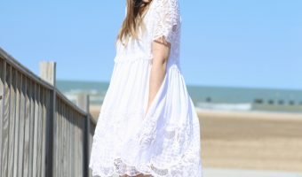 Kendall & Kylie White Lace Dress