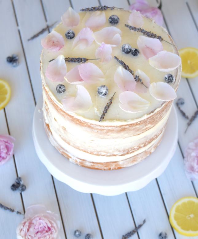 Lemon Blueberry Naked Cake Recipe
