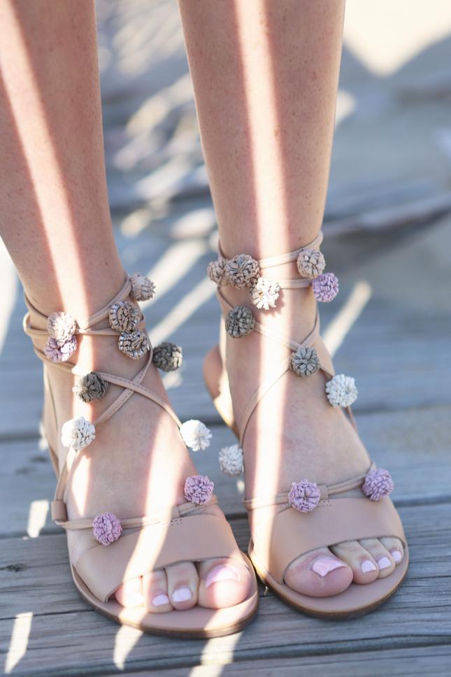 Loeffler Randall Pom Pom Sandals