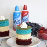 Red, White, & Blue Layered Flag Cake Recipe