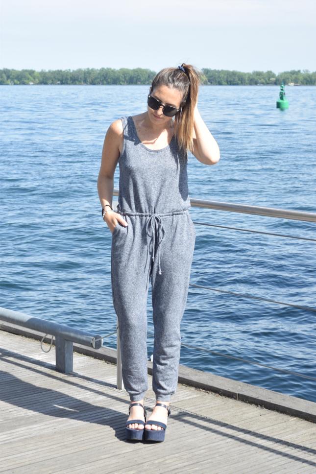 Tobi Grey Knit Jumpsuit