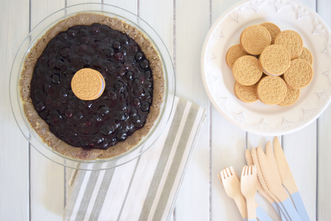 Blueberry Pie Oreo Crust