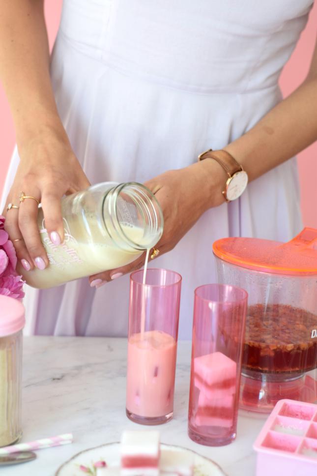Pink Iced Tea Latte Recipe