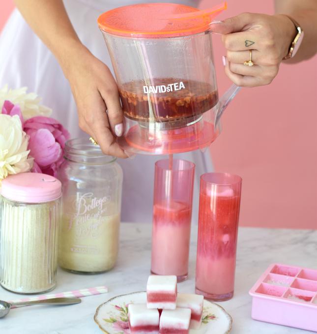 Random Acts of Pastel Pink Iced Tea Latte